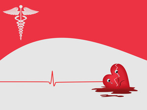 Heart Attack Background With Medical Symbol