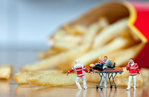 Heart Attack. Unhealthy Food Concept