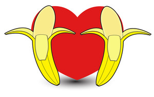 Heart Bananas Vector