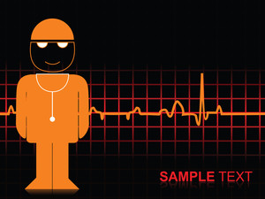 Heart Beat Background With Funny Illustration