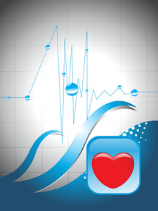 Heart Beat Background With Red Heart