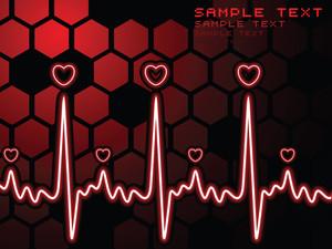 Heart Beat Symbol With Heart