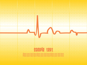 Heart Beat With Yellow Background