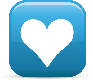 Heart Favorite Elements Glossy Icon