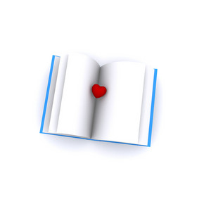 Heart In An Open Book 3d Render