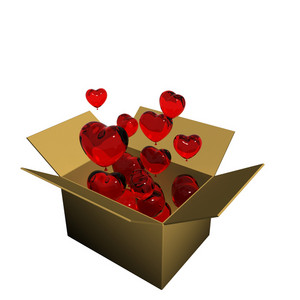 Heart In Cardboard Box