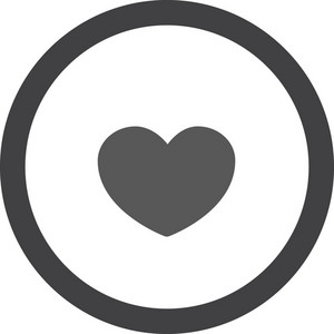Heart In Circle Stroke Icon