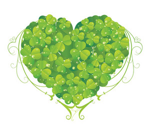 Heart Made From Clover Leaves