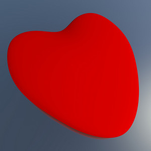 Heart On A Blue Background Showing Love Romance And Valentines