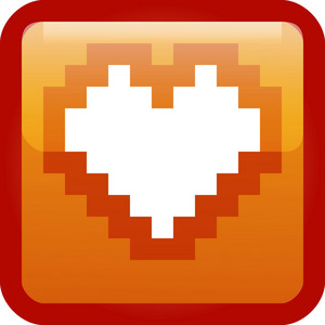 Heart Orange Tiny App Icon