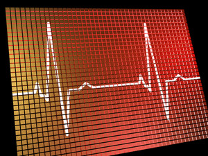 Heart Rate Monitor Showing Cardiac And Coronary Health