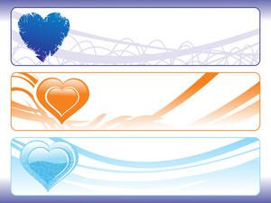 Heart Shape Banner Illustration