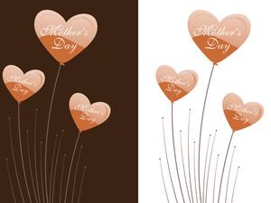 Heart Shape Pattern Card For Celebration
