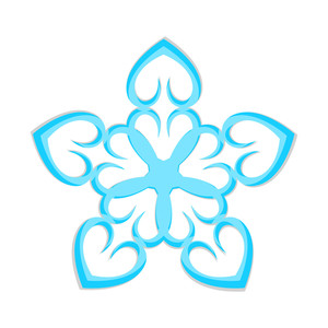 Heart Shape Snowflake Design