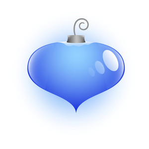 Heart Shaped Christmas Bauble Vector Illustration