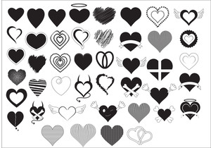 Heart Shapes Vectors