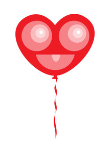 Heart Smiley Balloon