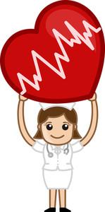 Heart Surgery - Medical Cartoon Vector Character