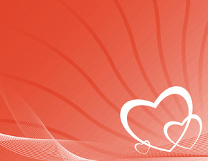 Heart Text Frame With Wave Lines Element In Red