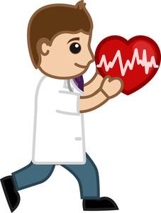 Heart Transplant Concept - Medical Cartoon Vector Character