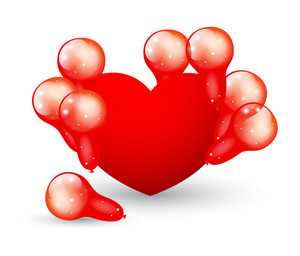 Heart With Balloons