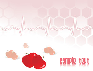 Heartbeat Background With Apple
