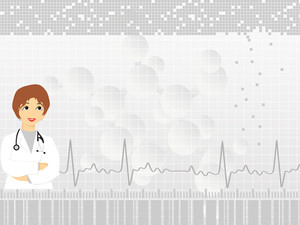Heartbeat Background With Doctor