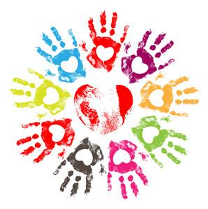 Hearts Hand Prints