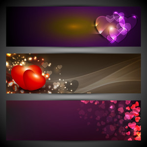 Hearts On Shiny Background