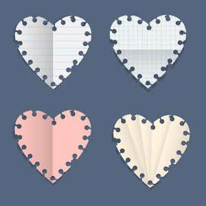 Hearts Paper Note