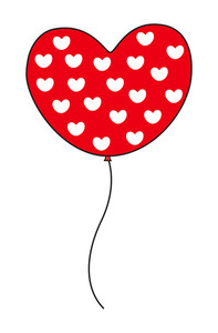 Hearts Pattern Balloon