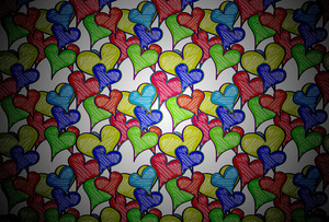 Hearts Patterned Background