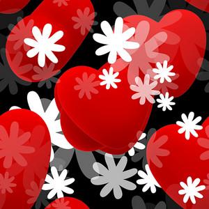 Hearts  Seamless Texture
