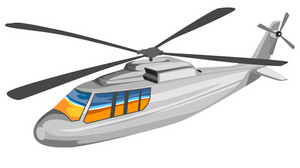 Helicopter Chopper Retro