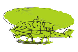 Helicopter Vector Drawing