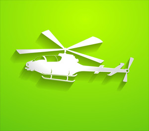 Helicopter Vector Shape