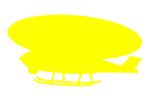 Helicopter Yellow Shape