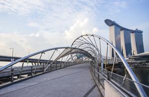 Helix Bridge. Singapore