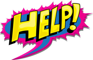 Help - Comic Shout Expression Vector Text