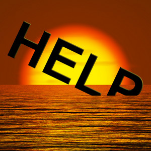 Help Word Sinking As Symbol For Needed Support