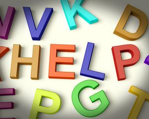 Help Written In Plastic Kids Letters