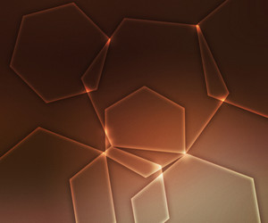 Hex Orange Light Shapes Background