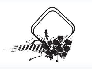 Hibiscus Flower Frame
