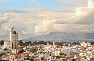 High Angle View At Nicosia City.