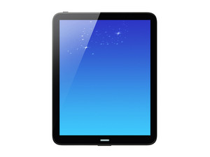 High-detailed Tablet Pc On White Background, 3d Render.