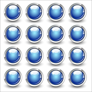 High Gloss Vector Button