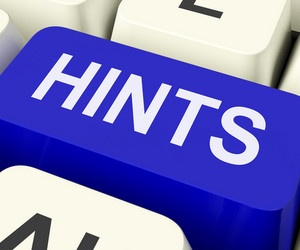Hints Key Shows Tips Suggestions And Advice