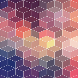 Hipster Geometric Background Made Of Cubes
