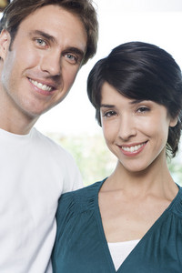 Hispanic couple at home location