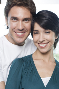 Hispanic couple at home location
